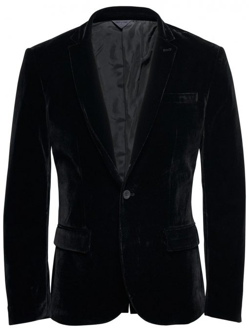 ONLY & SONS Velour Blazer Mænd Sort