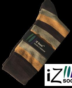12 par - iZ Sock, Bambus modestrømper med striber.