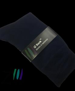 Bambus strømper fra iZ sock - Str. 48 - 50. Marineblå. 5 par.