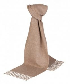Beige halstørklæde i lambswool