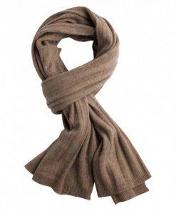 Beige strikket cashmere halstørklæde