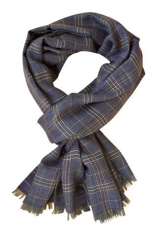 Blåt italiensk luksus cashmere tørklæde