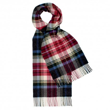 Blåt og rødt skotskternet tørklæde