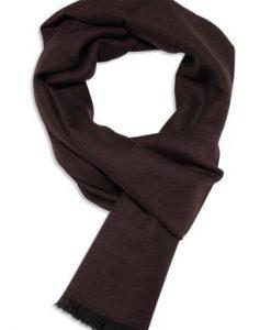 Bordeaux cashmere tørklæde i sildebensvævning