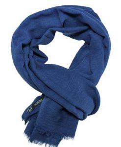 Casual tørklæde i flot klar mørkeblå farve
