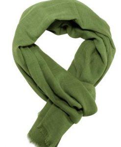 Casual tørklæde i flot mosgrøn farve