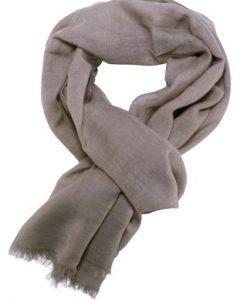 Casual tørklæde i smuk jordfarve