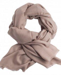 Gråbrunt twill vævet pashmina tørklæde