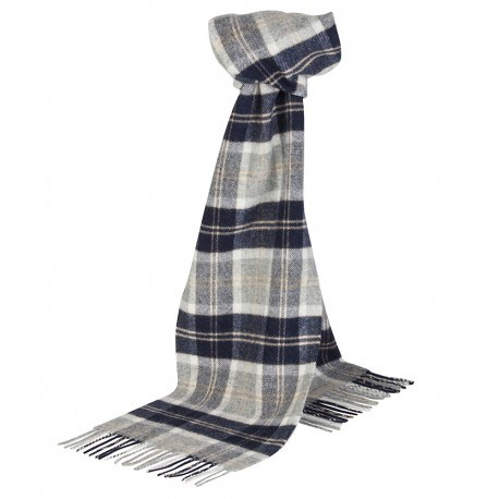 Gråt skotskternet tørklæde