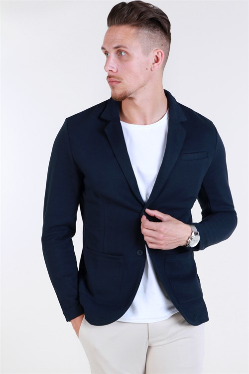 Jack & Jones Premium Luther Bla. Sweat Blazer Super Skinny Fit Dark Navy