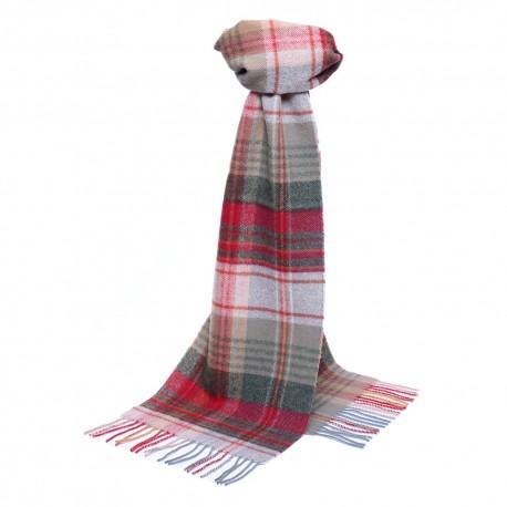 Lysegråt skotskternet tørklæde