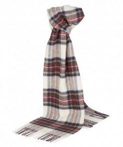 Råhvidt skotskternet tørklæde