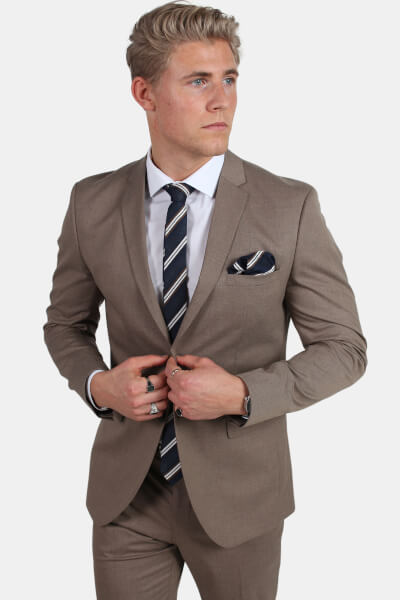 Selected New One Mylo Logan Blazer Sand