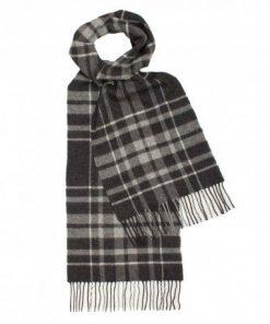 Skotskternet tørklæde i grå nuancer