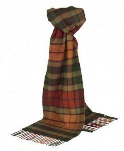 Skotskternet tørklæde i orange nuancer