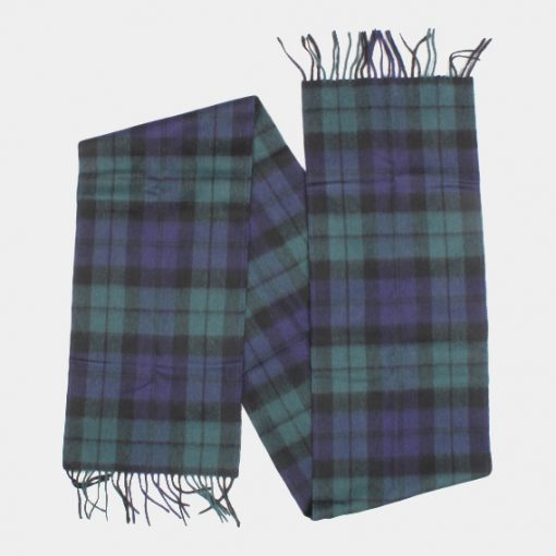 Barbour scarf New Check Tart Black