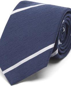 An Ivy - Navy Textured Stripes Slips