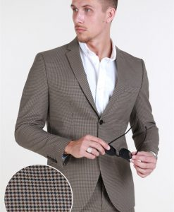 Selected Slim-Riclogan Blazer Sand Check