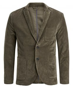 JACK & JONES Fløjls Blazer Mænd Brown; Green