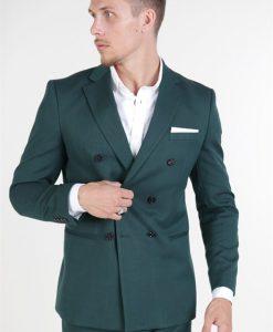 Selected Slim Daxlogan Blazer Medium Green Melange