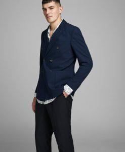 JACK & JONES Genanvendt Polyesterblanding Blazer Mænd Blå