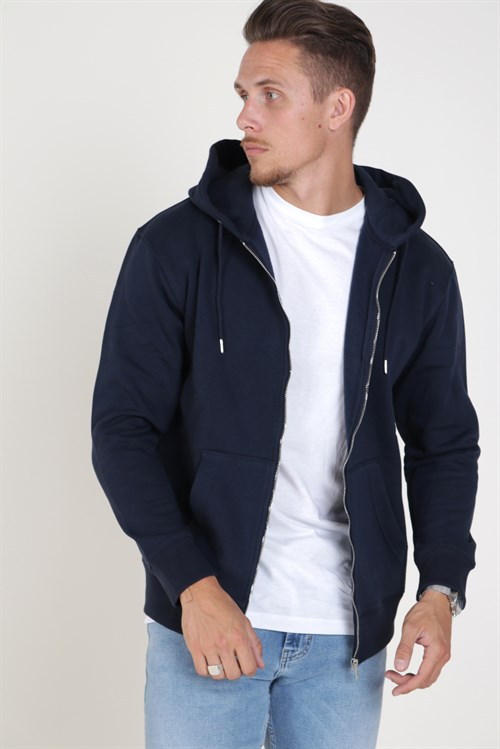 Jack & Jones Soft Sweat Zip Hood Navy Blazer