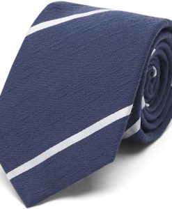 An Ivy - Navy Textured Stripes Slips