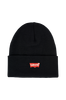 Hue Red Batwing Embroidered Slouchy Beanie