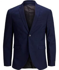 JACK & JONES Black Super Slim Blazer Mænd Blå