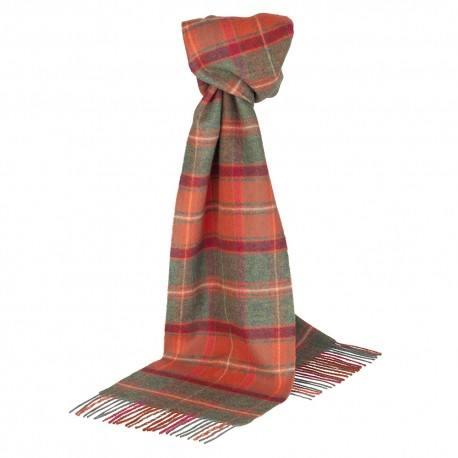 Cinnoberrødt skotskternet tørklæde