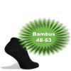 Bambus Ankelstrømper (Korte Strømper) Sort - Str. 48-53