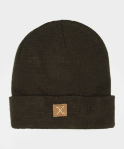Clean Cut Logo Beanie Hue Army