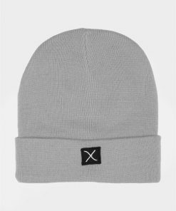 Clean Cut Logo Beanie Hue Light Grey