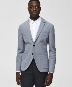 Enkeltradet Blazer - Light Grey Melange