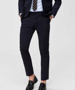 Slim fit Habitbukser - Navy Blazer