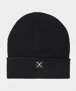Clean Cut Logo Beanie Hue Black