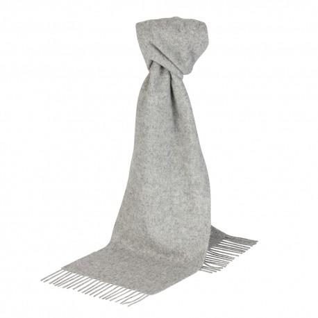 Lysegråt halstørklæde i lambswool
