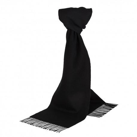 Sort halstørklæde i lambswool