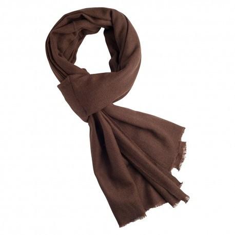 Sortbrunt cashmere tørklæde
