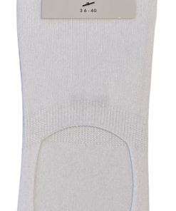 CSC- Footies med silikone hæl - Hvid bambus str. 36-40