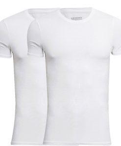 JBS Bambus T-Shirts 2-Pak Hvid Rund Hals Str. XL