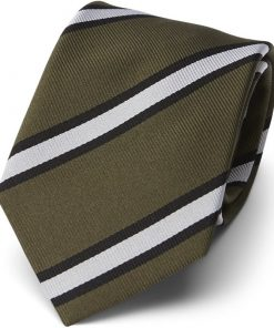 An Ivy - OLIVE GREEN STRIPE WOVEN Slips