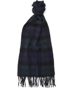 Barbour - New Check Tartan Cashmere Scarf